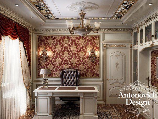 Кабинет, созданный в классическом стиле. наполняет своей гармонией, изысканностью, светом.