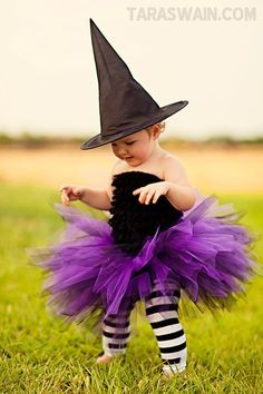 Great witch costume for baby/toddler. Super cheap and simple.
