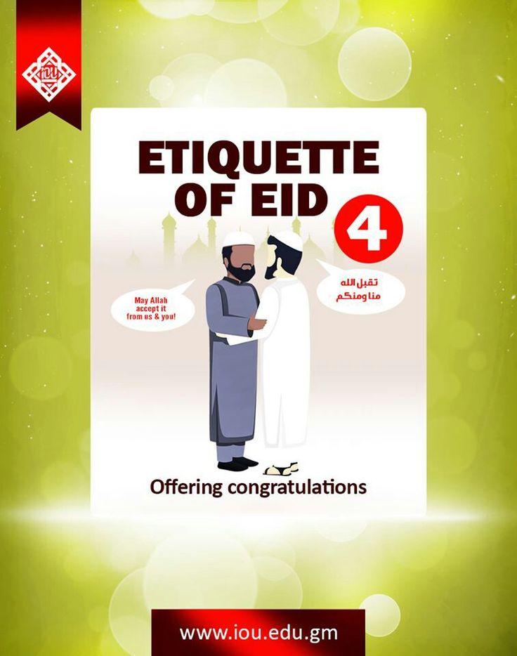 ETIQUETTE OF EID: 4