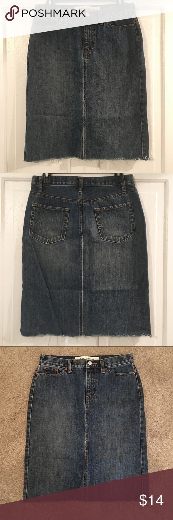 Gap Jeans Denim Skirt Gap Jeans Denim Blue Skirt Size 4 Midi - 23 inches long Straight Fit Cropped Hem 100% Cotton Machine Washable Excellent Condition! GAP Skirts Midi