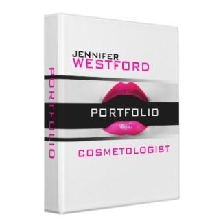 Cosmetologist Portfolio Binder