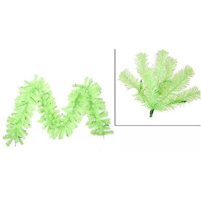 Vickerman Sparkling Christmas Garland with Lights Color: Chartreuse Green