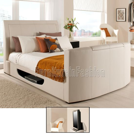 Stanton Leather Tv Beds In Cream