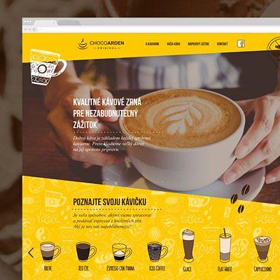 Branding a webdesign pre kaviareň v Auparku