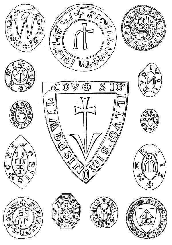 Herby polskie z elemenetami runicznymi