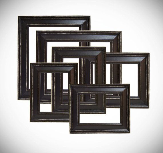 Picture Frames Picture Frame Set Black by MountainCoveAntiques