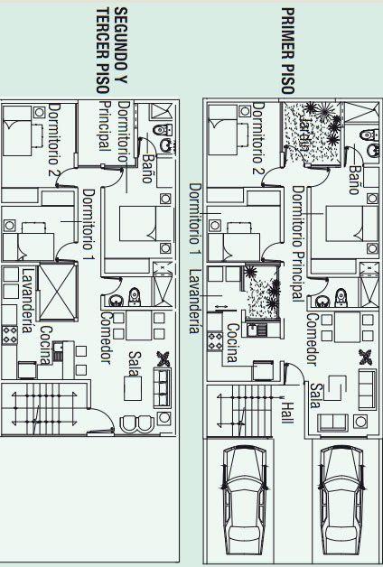 Planos para construir tres apartamentos en 130m2 , en un ...