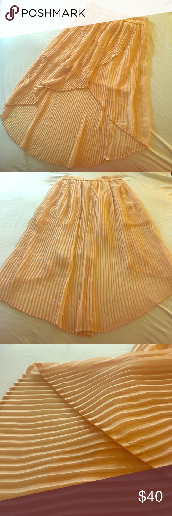 Urban Outfitters - Kimchi Blue Skirt Very light material - Beautiful and flowy. Salmon colored, looks great with white/off white Cami top. Perfect condition Kimchi Blue Skirts High Low