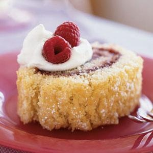 Almond Jelly Roll with Raspberry Filling - Almond paste makes the cake ...