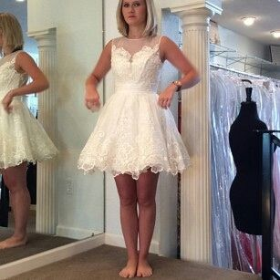 Brides Looking For Short Wedding Reception Dresses Can Consider Having A Dress Like This Custom Made