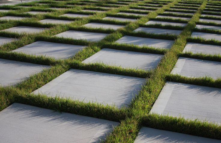 Grass Pavers Patio Use Artificial Turf Friedman
