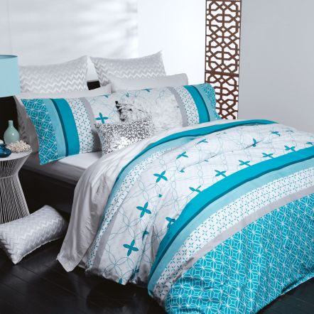 Kira Teal Duvet Cover Set by Casual Living | Harvey Norman New Zealand