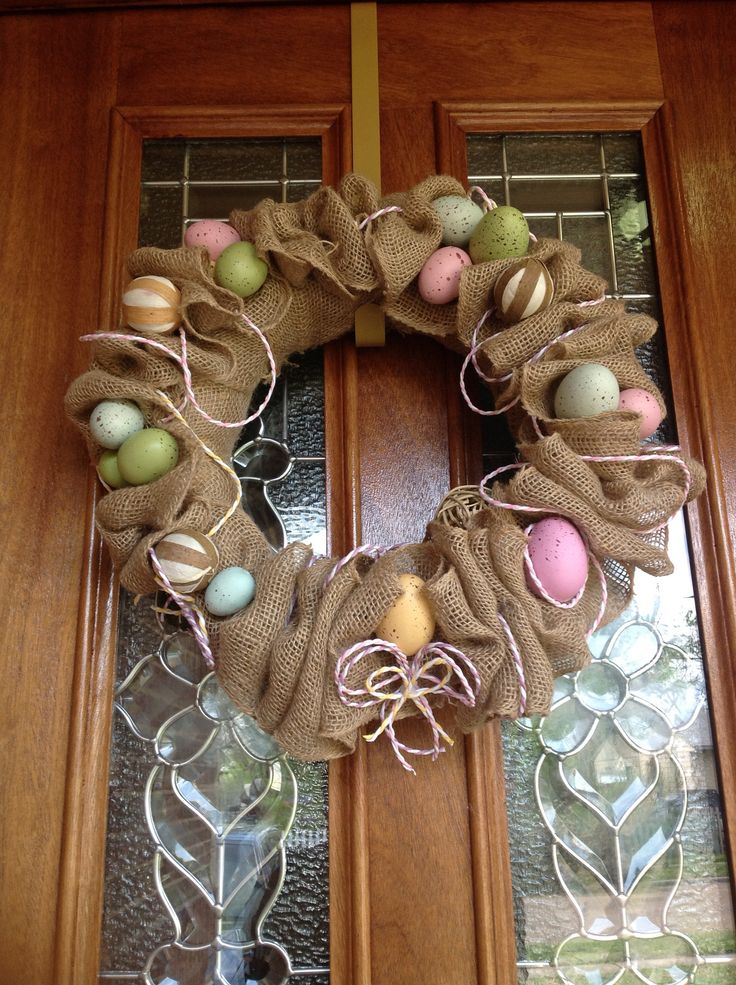 Spring /Easter deco mesh  WREATH