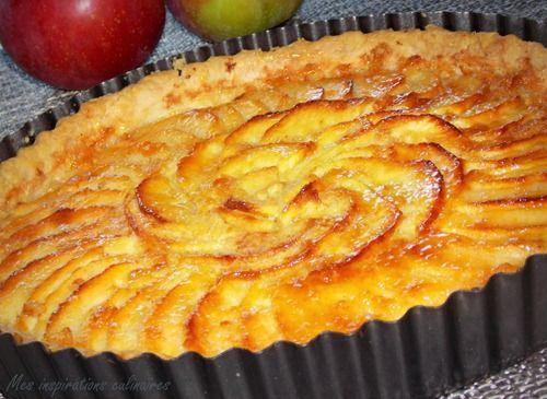 Tarte aux pomme au beurre parfumée à la cannelle.....à tomber