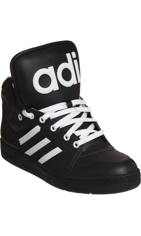 adidas originals instinct black high top trainers