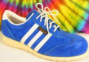 7-5-M-vintage-80s-blue-suede-RANGER-steel-toe-oxfords-sneakers-tennis-shoes-NOS