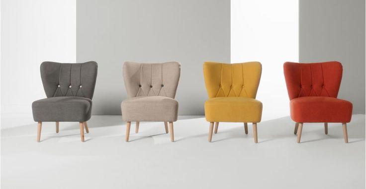 Charley Accent Chair, Retro Orange   made.com