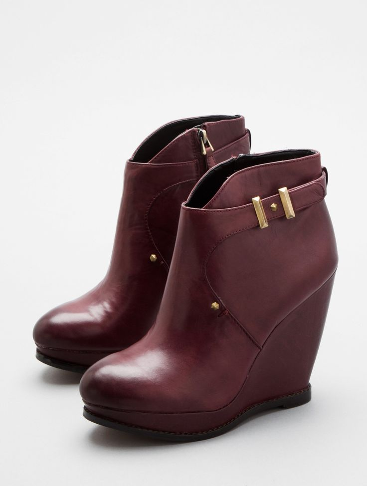burgundy wedge booties sam edelman stylin