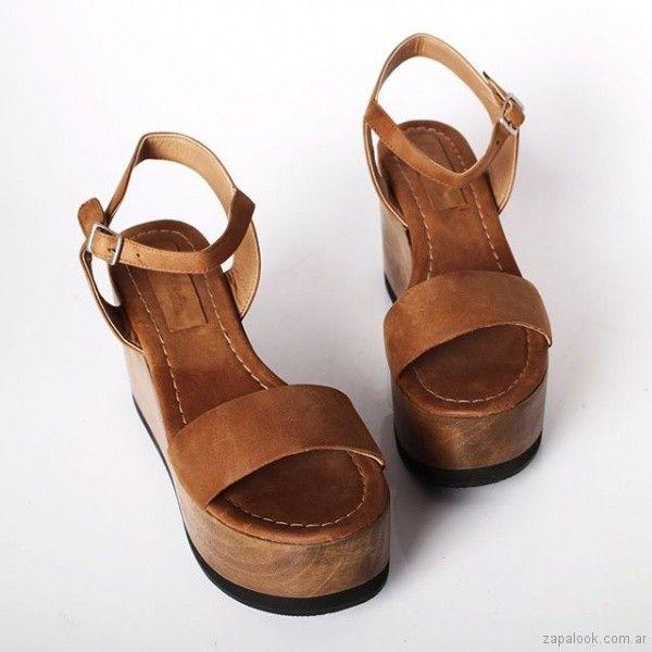 ecd104e4 sandalia marrones primavera verano 2019 - Priscila Bella | Moda en ...