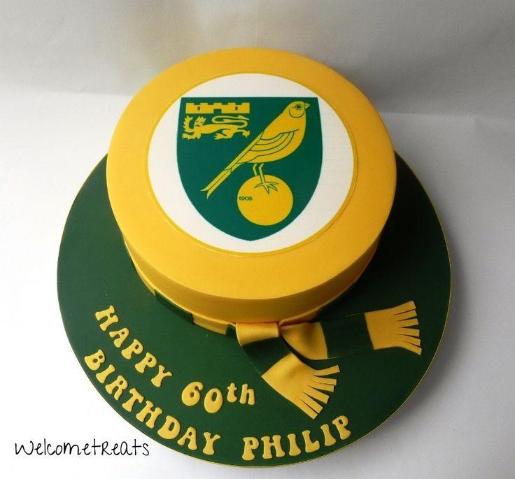 Norwich City Football Cake