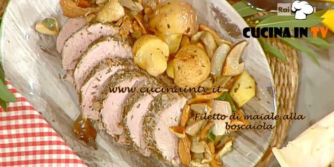 Filetto di maiale alla boscaiola ricetta Barzetti La Prova del Cuoco | Cucina in tv