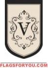 """Monogram """"V"""" Garden Flag - 3 left"""