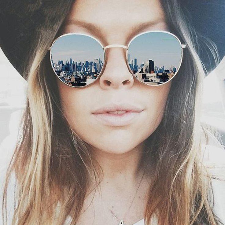 $15.97 (Buy here: http://appdeal.ru/5bhk ) Fashion Brand Design Round Women Sunglasses Female Brand Designer 2016 Vintage Luxury Mirror Ladies Sunglass Women Sun Glasses for just $15.97