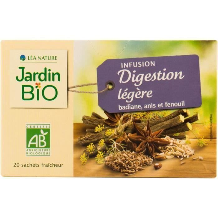 Jardin Bio Infusion Digestion Leger Bio Lot De 3x 30 G