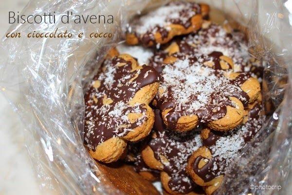La zucca capricciosa: Biscotti integrali d'avena con cioccolato e cocco