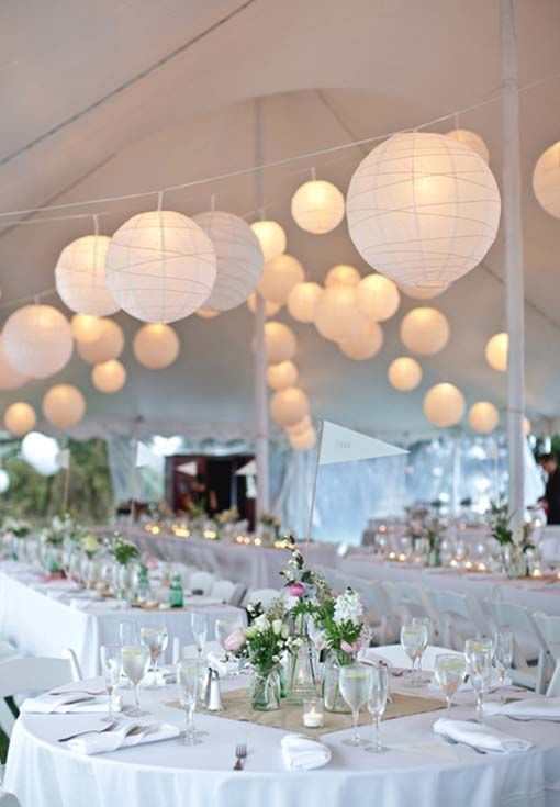 paper lanterns for weddings | ... Paper Lanterns Wedding Reception: Black and white wedding of Emily and