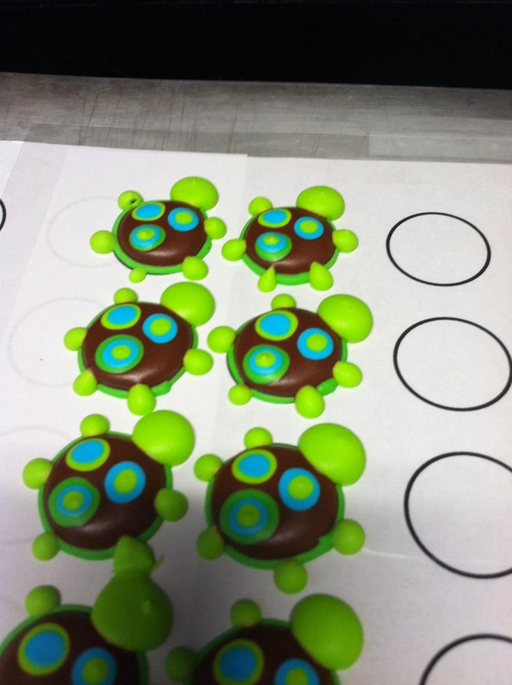 Pinterest inspired royal icing turtles Royal icing