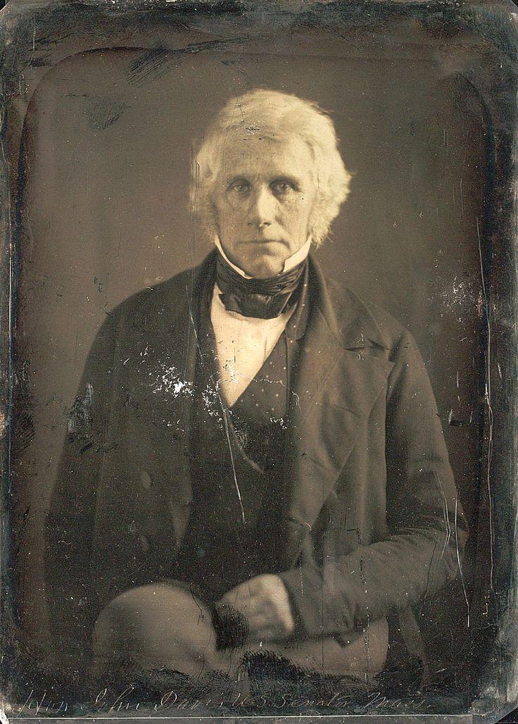 John Davis, Daguerreotype by Matthew Brady. ca 1846. U.S. Senator Mass.