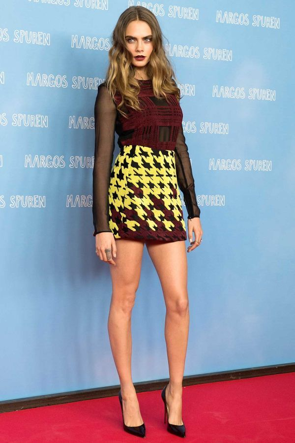 Cara Delevingne's Most Stylish Week Ever | June 16th in Mary Katrantzou Cara's printed top-and-skirt combo is bodycon done right.