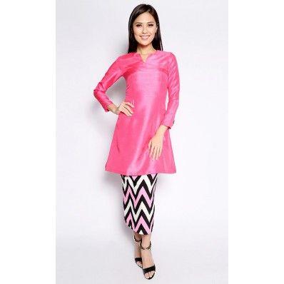 Adrianna Yariqa - Chevron Pahang Kurung in Pink