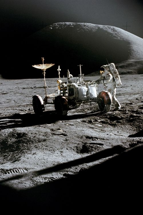 Apollo 15 and the Lunar Roving Vehicle (by NASA's Marshall Space Flight Center)