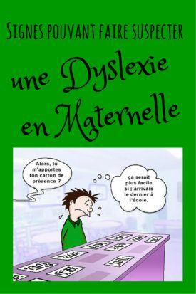 Signes pouvant faire suspecter une dyslexie en maternelle