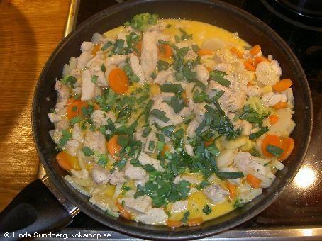 Recept: Kyckling i kokosmjölk och röd curry