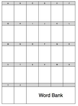 This is a blank word bank template educational for Blank word wall template free