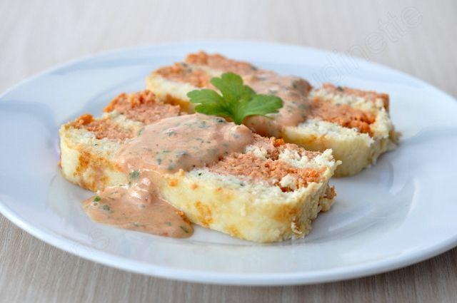 Terrine de poisson bicolore et sa sauce au whisky - Dans la cuisine d'Audinette