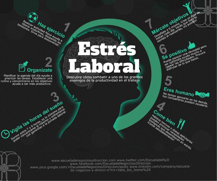 Cómo combatir el estrés laboral. #infografia