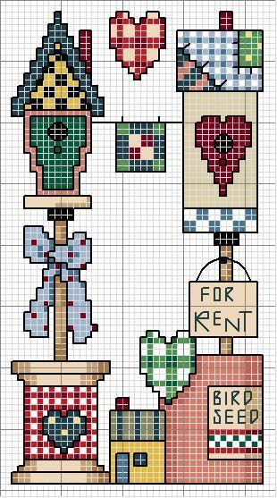 Schema punto croce Quadro Countriy 25