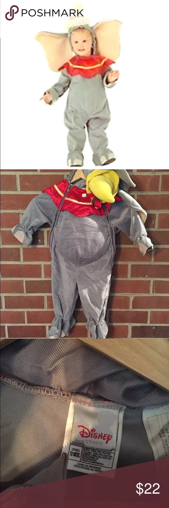 Dumbo Disney store costume 12 month Adorable dumbo costume! Worn once! In perfect condition Disney Costumes Halloween