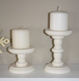 Wood glue and wooden items from craft store to make candle stick holders