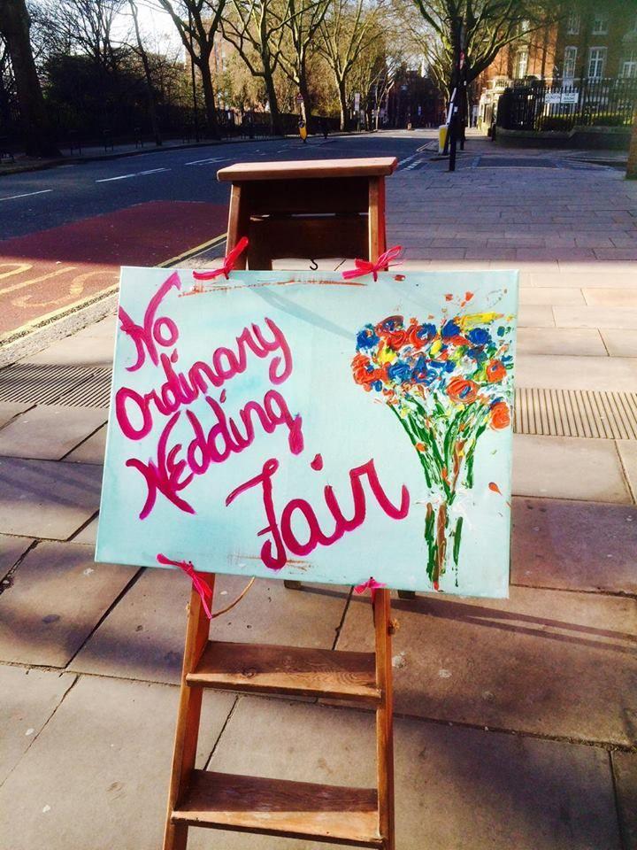 Hand-painted Artwork for the No Ordinary Wedding Fair by P Zrajkowski (art@safeyogapractice.com)