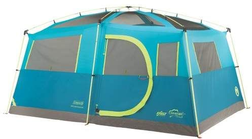 I love this tent. Two rooms, one with a closet to put our gear in, rain fly, rolling storage bag. Coleman Tenaya Lake Fast Pitch 8 Person Tent with Closet #coleman #camping #ad #tent