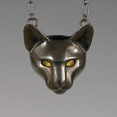 handcrafted animal totem jewelry, black cat totem jewelry, black cat jewelry.
