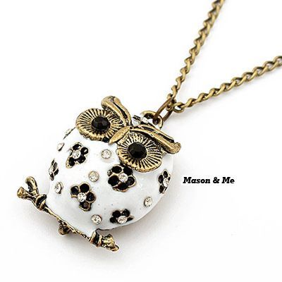 Korean Lovely Fashion OWL Decorated With Rhinestones Sweater Chain General. Small and catchy. REPIN if you like it. Only 38.5 IDR