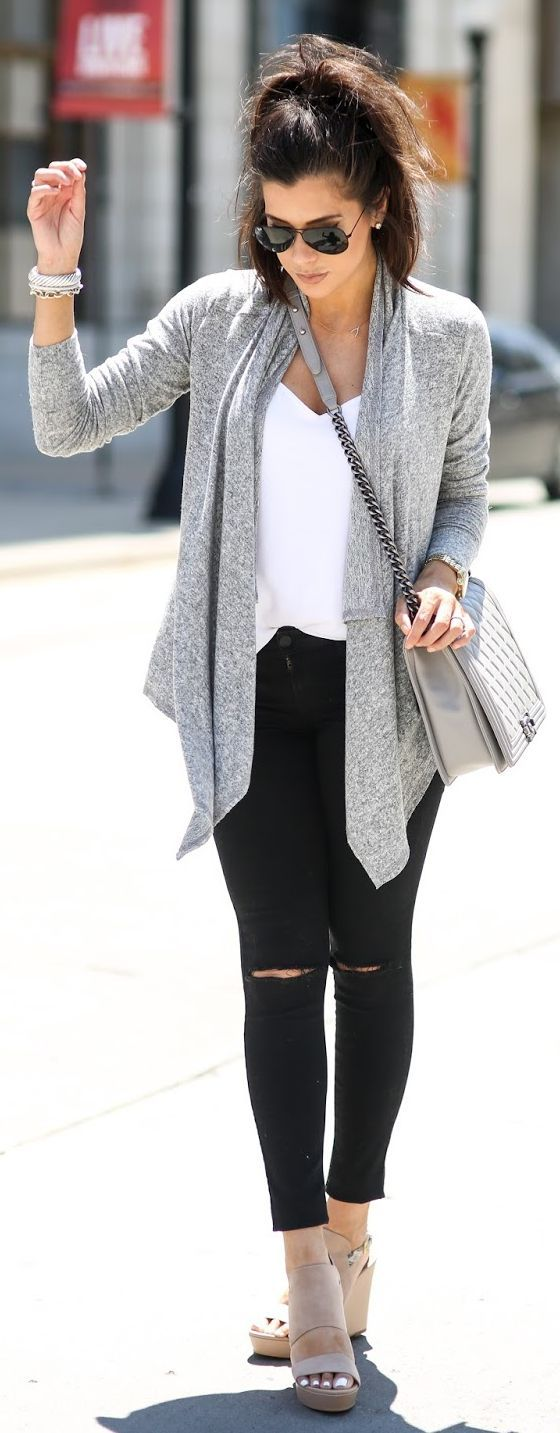 Best 25  Long white cardigan ideas on Pinterest | Best white jeans ...