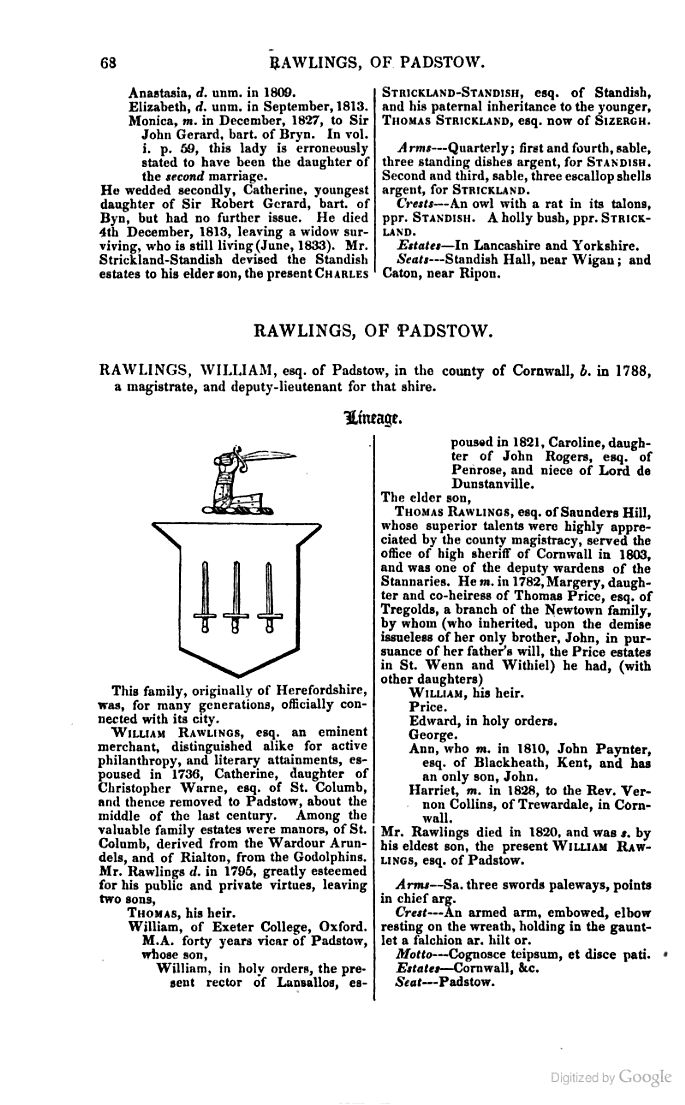 A Genealogical and Heraldic History of the Landed Gentry; Or, Commoners of ... - John Burke - Google Books