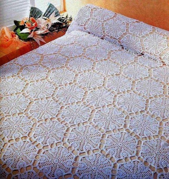 18 muestras de colchas tejidas a crochet | Colchas y cubrecamas ...